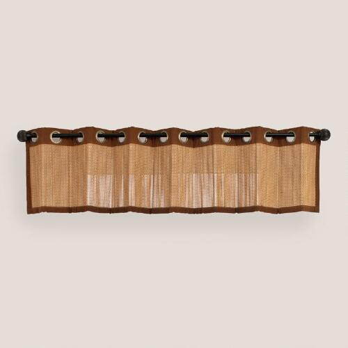 Oak Bamboo Valance with Grommets