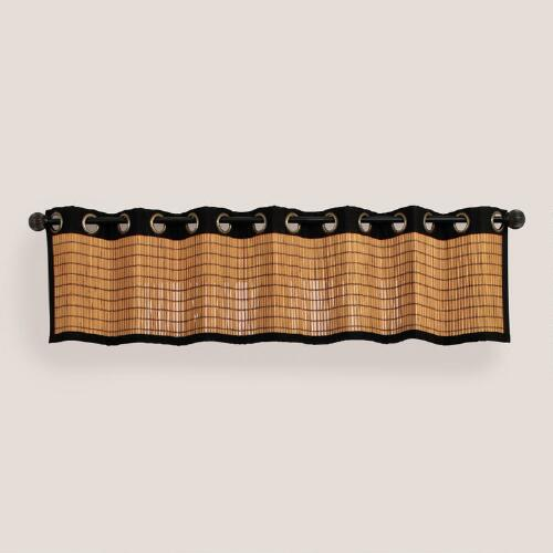 Bark Bamboo Valance with Grommets