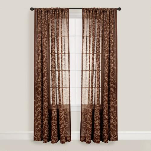 Chocolate Serene Curtain