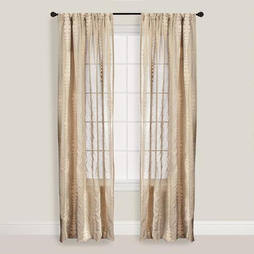 Sage Striped Nubia Curtain