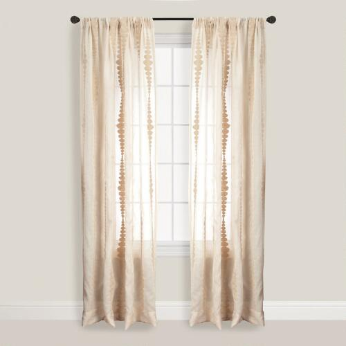 Natural Striped Nubia Curtain