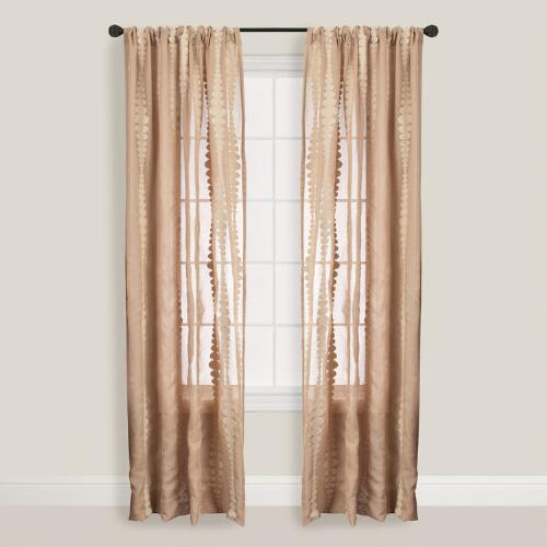 Wheat Striped Nubia Curtain