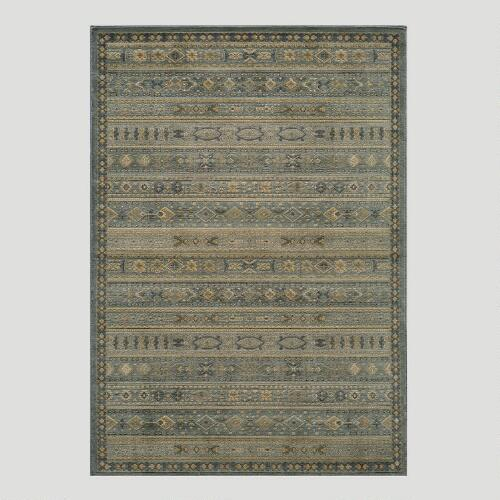 Light Blue Striped Rug