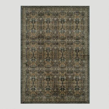 Light Blue Stained Glass Area Rug