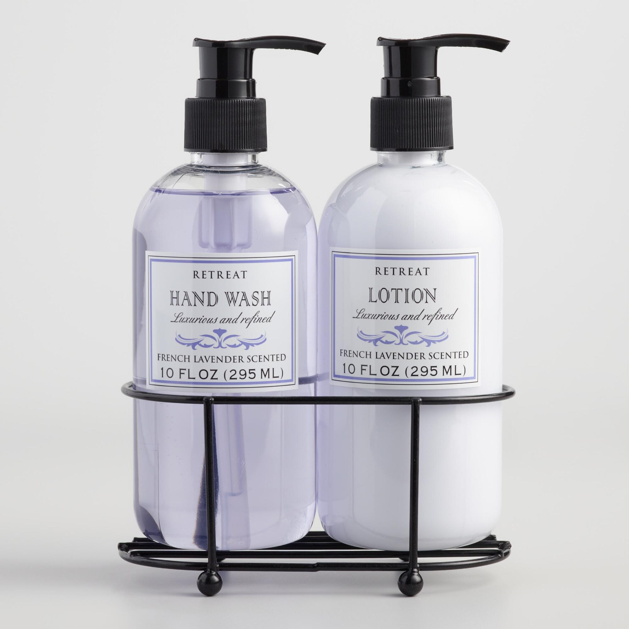 retreat lavender liquid soap and lotion caddy world market