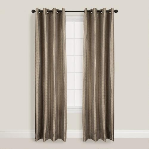 Pewter Batik Bombay Curtains