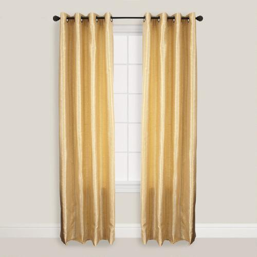 Soft Gold Batik Bombay Curtains