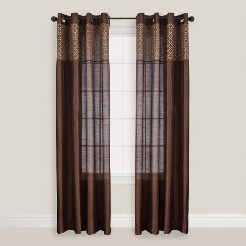 Chocolate Calypso Curtain