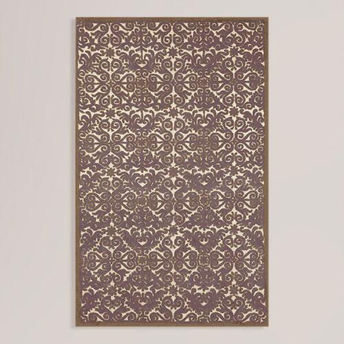 Lavender Scroll Wool Rug