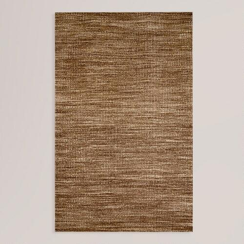 Brown Crete Wool Rug
