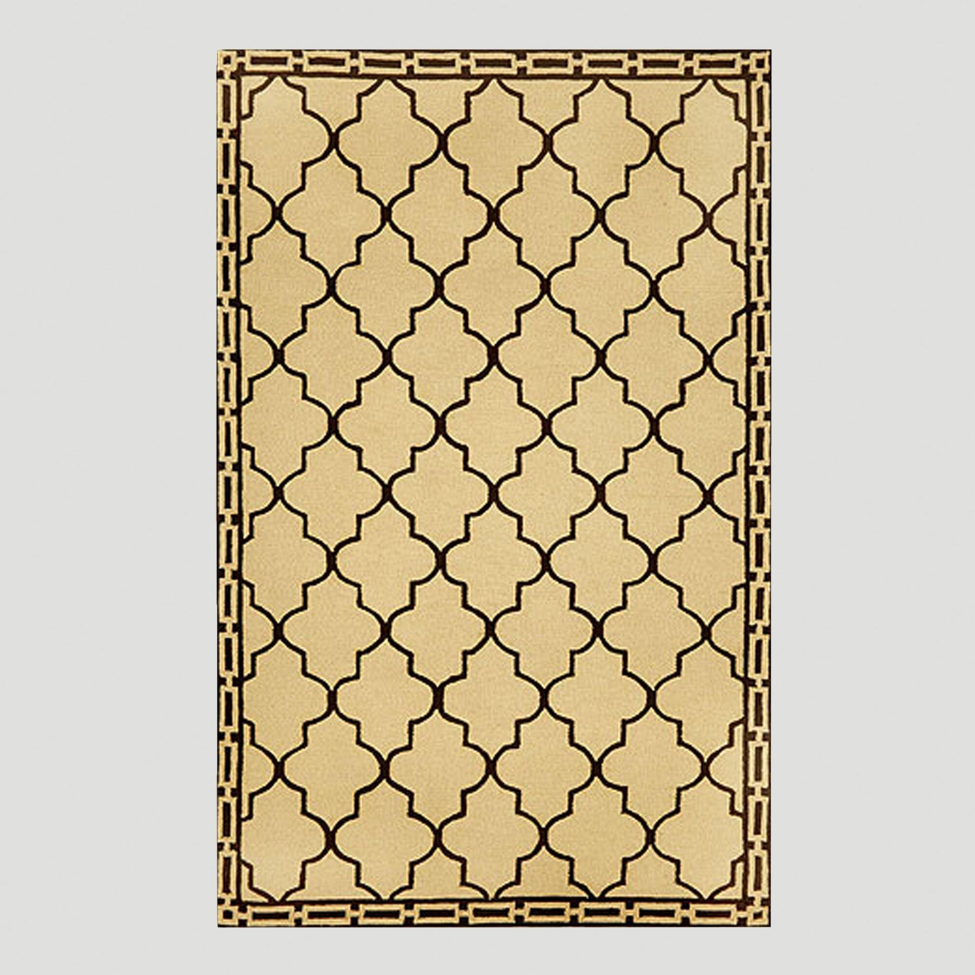 Wheat Floor Tile Indoor-Outdoor Rug | World Market - photo#34