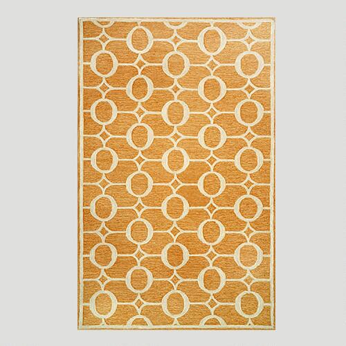 Orange Arabesque Indoor-Outdoor Rug