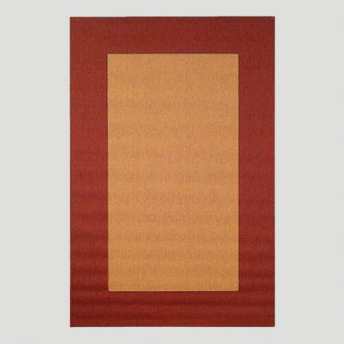Red Border Indoor-Outdoor Rug