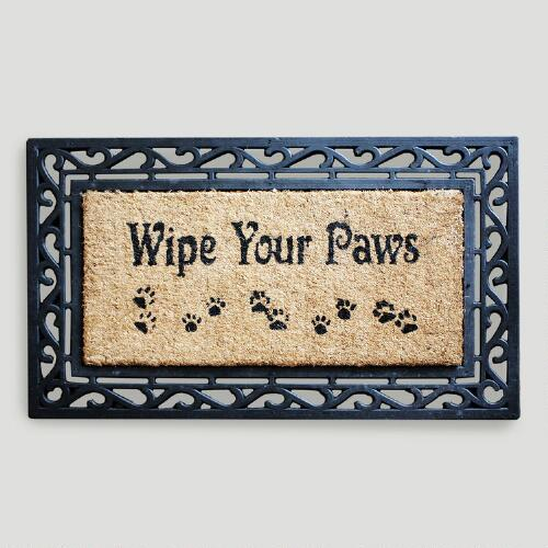 Wipe Your Paws Coir Doormat