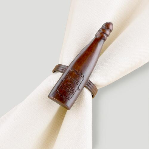 Vino Napkin Rings, Set of 4