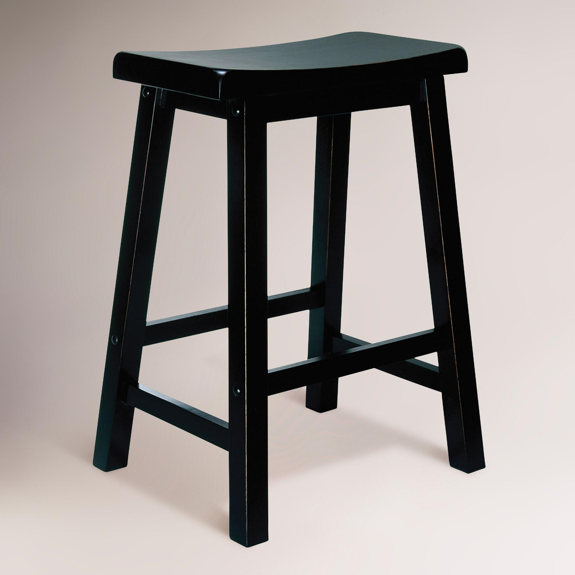 Antique Bar Stools ~ Antique black schoolhouse counter stool world market