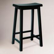 Antique Black Schoolhouse Barstool