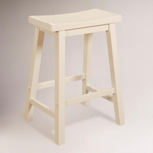 White Schoolhouse Counter Stool