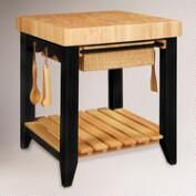 Farmhouse Butcher Block Kitchen Island