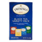 Twinings Black Tea Variety Pack, 20-Count