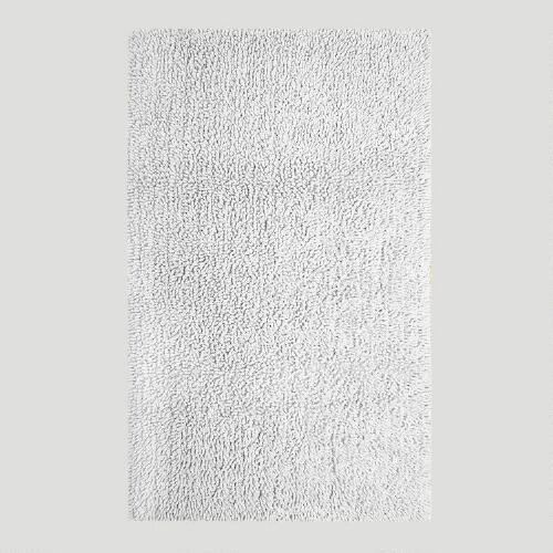 White Shag Bath Rug