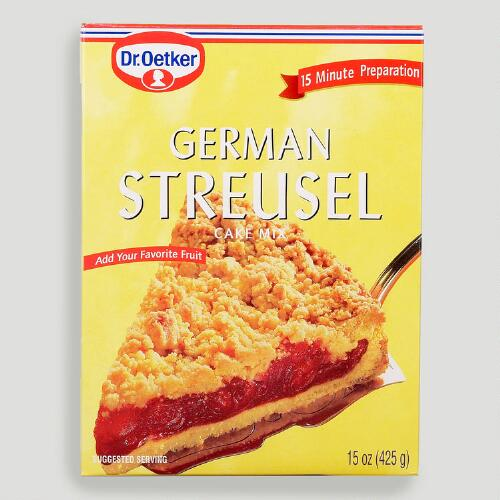 Dr. Oetker German Streusel Cake Mix, Set of 4