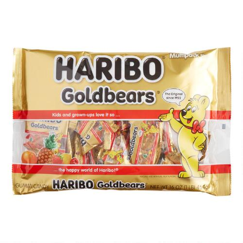 Haribo Mini Gold Bears, 1 lb. Bag, Set of 12