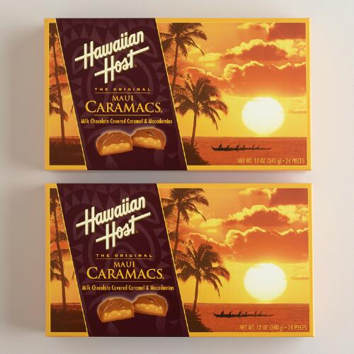 Hawaiian Host Chocolate Caramel Macadamias, Set of 2