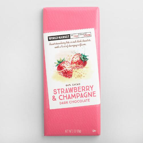 World Market® Strawberry Champagne Chocolate Bar Set of2