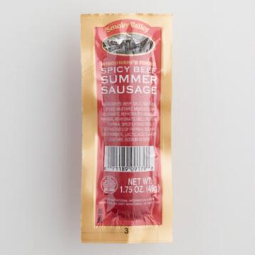 Smoky Valley Spicy Summer Sausage, Set of 36