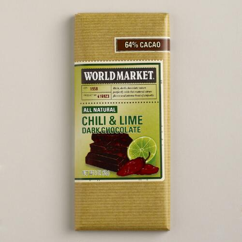 World Market® Chili Lime Dark Chocolate Bar, Set of 2