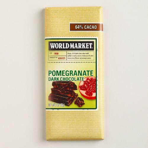 World Market® Pomegranate Chocolate Bar, Set of 2