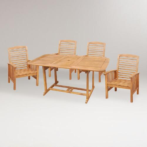 Hilo 5-Piece Outdoor Dining Set