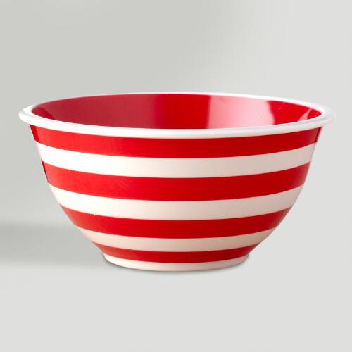 Peppermint Stripe Mixing Bowl