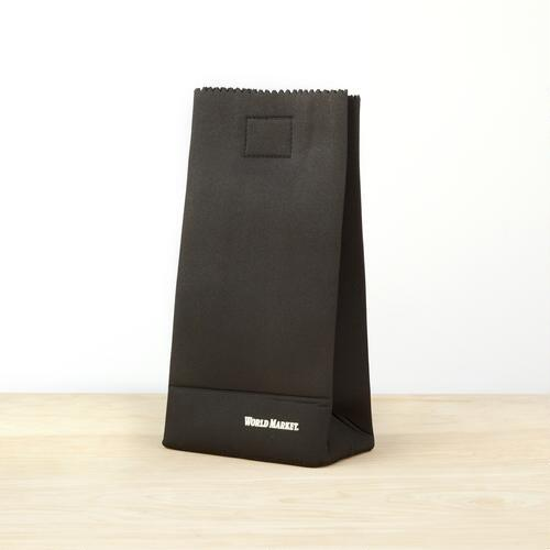 Black Neoprene Lunch Bag