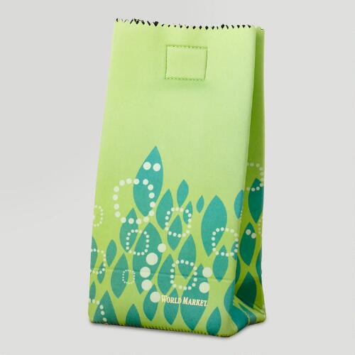 Green Neoprene Lunch Bag