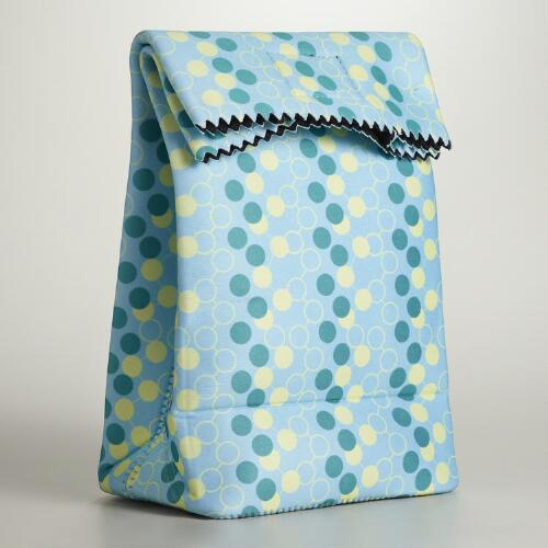 Blue Neoprene Lunch Bag