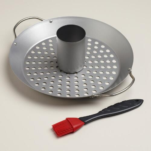 Vertical Roaster and Wok Set
