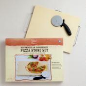 Rectangular Pizza Stone Set with Rack