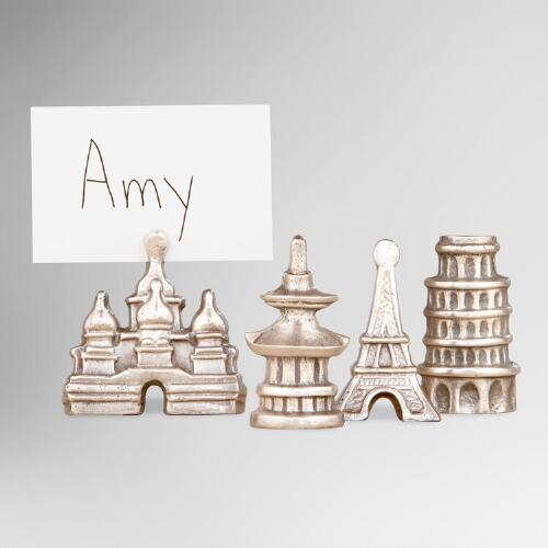 Global Place Card Holders, Set of 4