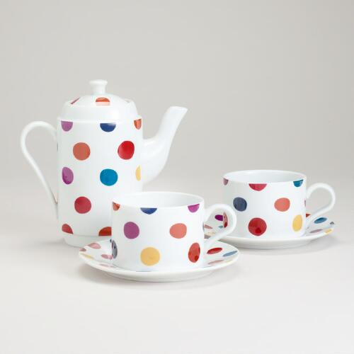 Polka Dot Tea For Two Set