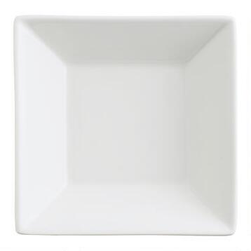 Mini White Porcelain Tasting Plates, Set of 4