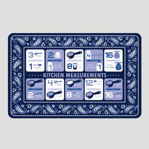 Kitchen Measurements Cushioned Floor Mat