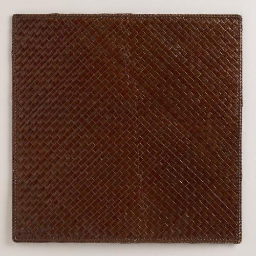 Brown Pandan Square Placemats, Set of 4