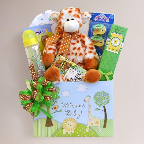 Wild Welcome for Baby Gift Basket