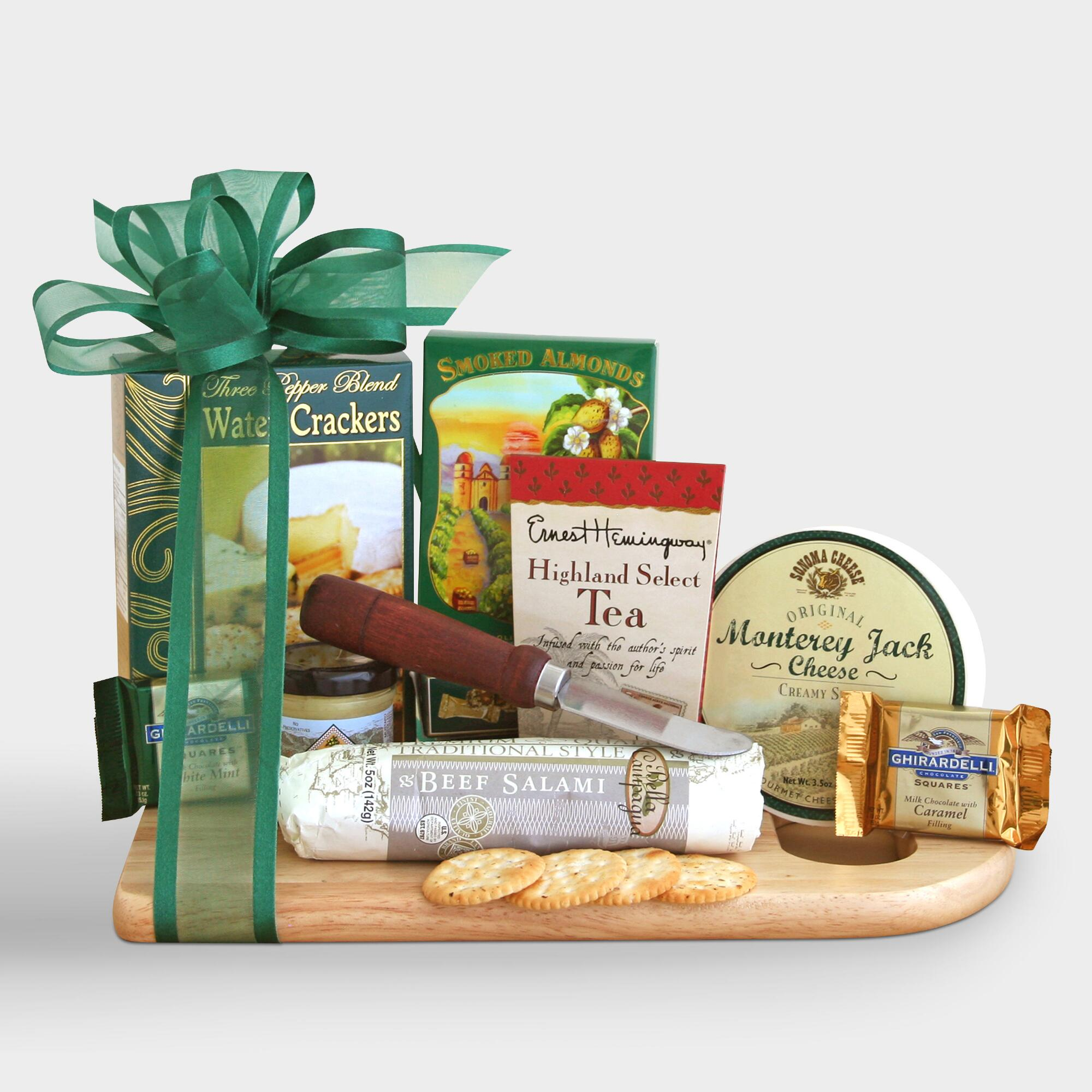Buy announcements gift baskets - Complete Cheeseboard Gift Basket - World Market