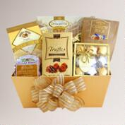 Golden Holiday Gift Box