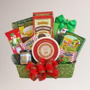 Holiday Evergreen Snack Delights Gift Basket