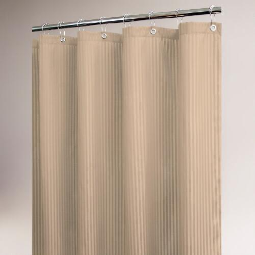 Linen Satin Stripe Shower Curtain