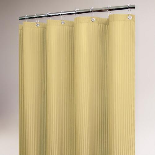 Sahara Satin Stripe Shower Curtain